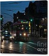 Streetcar At Queen And Spadina Canvas Print