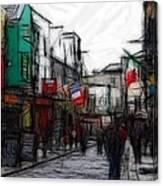 Streetlife Canvas Print