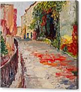 Streets Of Old Cannes Canvas Print