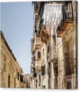 Streets Of Valetta Canvas Print