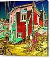 Streets Of Valparaiso Canvas Print