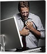 Stress-related Heart Attack Canvas Print