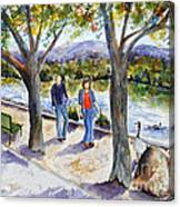 Strolling Virginia Lake Canvas Print
