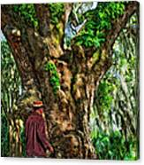 Strolling With Giants Painted Canvas Print