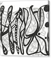 Strut Your Swirls Canvas Print
