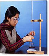 Student Performing Titration Canvas Print