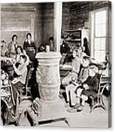 Students In A One-room School Canvas Print