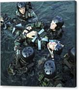 Students Secure A Simulated Casualty Canvas Print