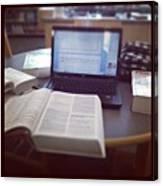 #studying 😷 #nursing #library Canvas Print