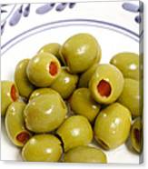 Stuffed Green Olives Canvas Print