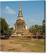Stupa Chedi Of A Wat In Thailand Canvas Print