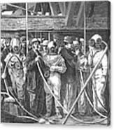Submarine Divers, 1869 Canvas Print