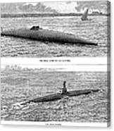 Submarine Launch, 1890 Canvas Print