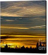 Suburban Sunrise Canvas Print