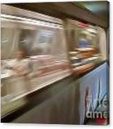 Subway Blur Canvas Print