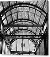 Subway Glass Station In Black And White Canvas Print