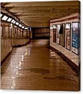 Subway Tunnel Canvas Print