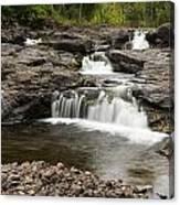 Sucker River Falls 2 A Canvas Print