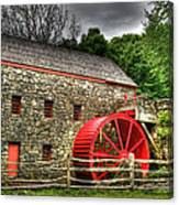 Sudbury - Storm Looms At The Grist Mill Canvas Print