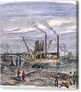 Suez Canal Construction Canvas Print