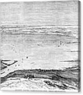 Suez Canal: Lake, 1869 Canvas Print