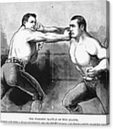 Sullivan Vs. Kilrain, 1889 Canvas Print