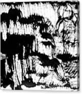 Sumi-e 120726-3 Canvas Print