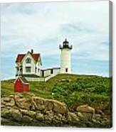 Summer Afternoon At Nubble Light Canvas Print