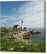 Summer At Portland Head Light Canvas Print