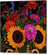 Summer Flower Bouquet Canvas Print