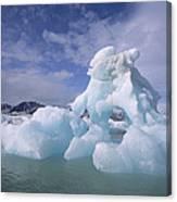 Summer Icebergs, Spitsbergen Island Canvas Print