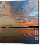 Summer Night At Sebago Lake Canvas Print