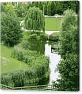 Summer Park In Belgium Canvas Print