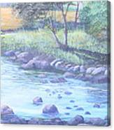 Summer River Canvas Print