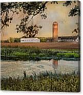 Summer Silo Reflection Canvas Print