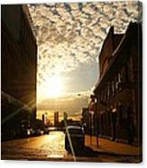 Summer Sunset Over A Cobblestone Street - New York City Canvas Print
