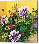 Summer To Autumn Bouquet Canvas Print