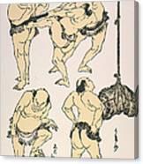 Sumo Wrestlers, 1817 Canvas Print