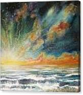 Sun Crash Canvas Print