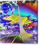 Sun Dial Bridge Redding Ca   Canvas Print