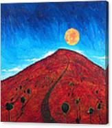 Sun Over Red Hill Canvas Print