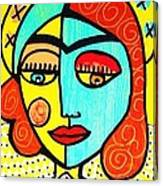 Sun Praying Angel Canvas Print