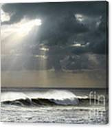 Sun Rays On Ocean Canvas Print