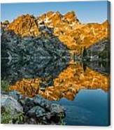 Sun Rises On Upper Sardine Lake Canvas Print