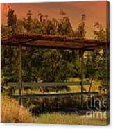 Sun Set Bus Stop Canvas Print