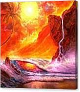 Sun Setting Hawaii Canvas Print