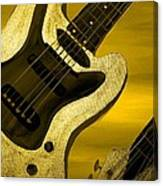 Sun Stained Yellow Electric Guitar Canvas Print