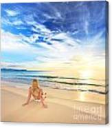 Sunbathing At Sunrise Canvas Print