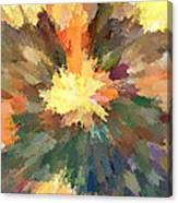 Sunburst Mona Canvas Print