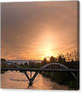 Sunburst Sunset Over Caveman Bridge Canvas Print